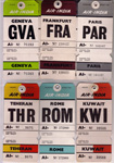 Air India Assorted Bag Tags - 1960s