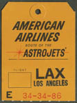 American Airlines Astrojets Bag Tag LAX