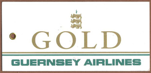 Guernsey Airlines UK Gold Tag