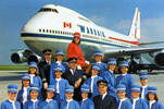 Wardair 747 with Crew