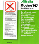Alitalia B747 1996 Issue